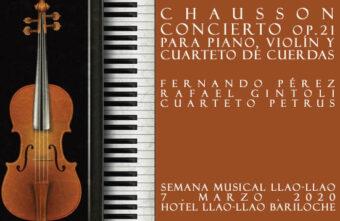 Concierto Op.21 de Chausson en la Semana Musical Llao-Llao