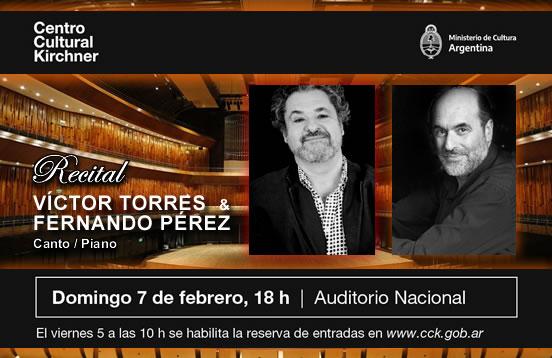 Recital: Víctor Torres & Fernando Pérez / Concierto presencial en el CCK.